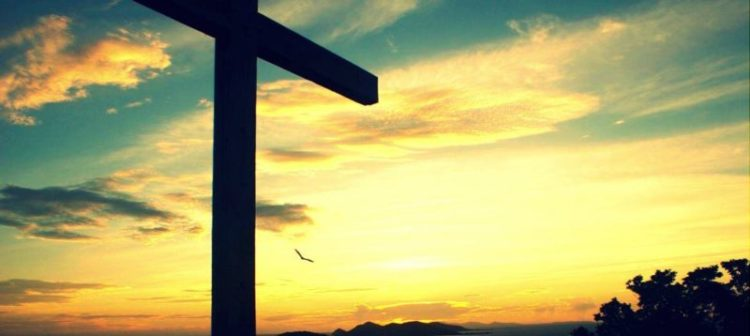 na cruz de Cristo
